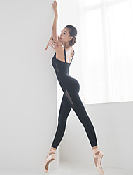 cheap -Women's Aerial Yoga Jumpsuit Romper Breathable Black Army Green Nylon Ballet Dance Gymnastics Sports Activewear Stretchy