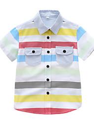 cheap -Kids Toddler Boys' Basic Striped Short Sleeve Shirt White