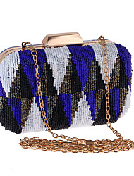 cheap -Women's Chain Polyester Evening Bag Wedding Bags Color Block Blue / Yellow / Orange / Fall & Winter