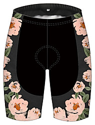 cheap -21Grams Women's Cycling Shorts Bike Shorts Padded Shorts / Chamois Pants Breathable 3D Pad Quick Dry Sports Floral Botanical Black / Pink Mountain Bike MTB Road Bike Cycling Clothing Apparel Bike Wear