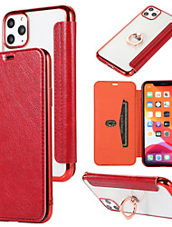 cheap -Case For Apple iPhone 11 / iPhone 11 Pro / iPhone 11 Pro Max /6/6p/7/8/7p/8p/x/xr/xsmax Card Holder / Dustproof / with Stand Back Cover Transparent / Solid Colored PU Leather / TPU