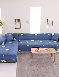 cheap -Cartoon Duck Print Dustproof All-powerful Slipcovers Stretch L Shape Sofa Cover Super Soft Fabric Couch Cover with One Free Pillow Case