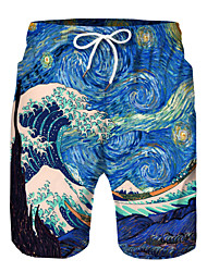 cheap -Kids Boys' Active Basic Print Color Block Drawstring Shorts Blue