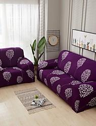 Недорогие -нордический простой ветер фиолетовый цветок эластичный чехол для дивана растягивающийся одноместный трехместный диван
