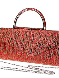 cheap -Women's Bags Polyester Alloy Evening Bag Solid Color Wedding Bags Wedding Party Event / Party Light Coffee Blue Red
