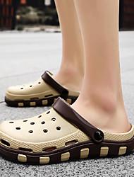 cheap -Men's Comfort Shoes Rubber Spring & Summer Classic Slippers & Flip-Flops Waterproof Brown / Blue
