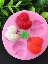 cheap -1PC Mini Duck Silicone Cake Mold Chocolate Decoration DIY