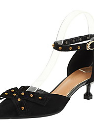 cheap -Women's Heels Rockstud shoes Stiletto Heel Pointed Toe Suede Spring & Summer Green / Black / Daily / 3-4