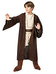 cheap -Soldier / Warrior Outfits Party Costume Kid's Boys' Halloween Halloween Festival / Holiday Polyster Brown Carnival Costumes / Coat / Top / Pants / Belt