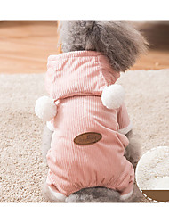 cheap -Dogs Cats Sweater Winter Dog Clothes Blue Pink Costume Cotton Solid Colored Keep Warm Leisure Simple Style S M L XL XXL