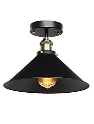 cheap -Diameter 30cm Industrial Ceiling Light Semi Flush Vintage Metal 1-Light Ceiling Lamp Dining Room Kitchen Light Fixture