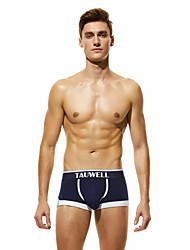 cheap -Men's Basic Boxers Underwear / Briefs Underwear - Asian Size Low Waist Red Green Navy Blue M L XL