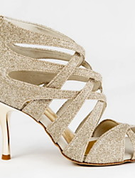 cheap -Women's Latin Shoes PU Heel Slim High Heel Dance Shoes Camel / Performance