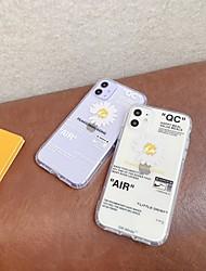Недорогие -Кейс для Назначение Apple iPhone 11 / iPhone 11 Pro / iPhone 11 Pro Max С узором Кейс на заднюю панель Слова / выражения / Цветы ТПУ