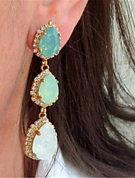 cheap -Women's Opal Drop Earrings Chandelier Lucky Stylish Artistic Luxury Trendy Korean Platinum Plated Gold Plated Earrings Jewelry Rose Gold For Christmas Wedding Party Gift Work 1 Pair