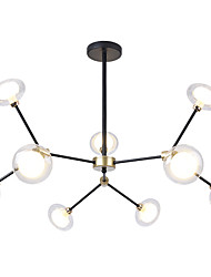 cheap -EMPEROR LANG 9-Light 80 cm Sputnik Design / Cluster Design Chandelier Metal Glass Painted Finishes Modern / Nordic Style 110-120V / 220-240V