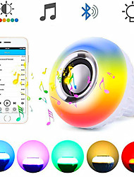 cheap -LOENDE Smart E27 RGB Wireless Bluetooth Speaker Bulb 12W Music Playing Dimmable Audio with 24 Keys Remote Control