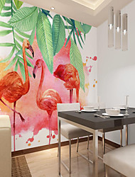 cheap -Custom Self-adhesive Mural Wallpaper Flamingo Is Suitable For Bedroom Living Room Coffee Shop Restaurant Hotel Wall Decoration Art Room Wallcovering