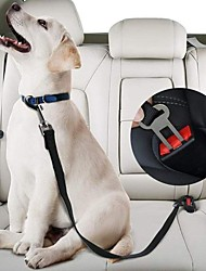 cheap -2pcs Pet Car Safety Belt Nylon Pets Dog Cat Seat Lead Leash Harness for Puppy Kitten Vehicle Security Leash Adjustable
