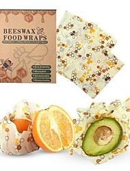 cheap -3pcs Reusable Beeswax Cloth Wrap Food Fresh Bag Lid Cover Stretch Lid Jungle Party Bees Wax Wrap