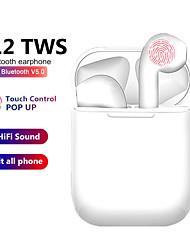 Недорогие -i12 tws беспроводная гарнитура bluetooth 5.0 touch спортивные наушники стерео для iphone xiaomi Huawei Samsung телефон Android
