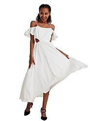 cheap -Women's Sheath Dress - Solid Color Maxi Black White Camel S M L XL
