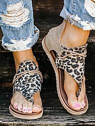 cheap -Women's Sandals Very G-Sparta Flat Heel Open Toe PU Vintage / Casual Spring &  Fall / Spring & Summer Black / Yellow / Beige / Leopard / Striped