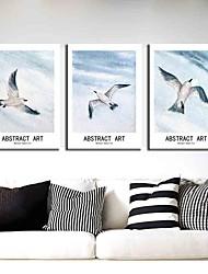 Недорогие -3 шт. Печать декоративной живописи масляной живописи дома декоративные настенные росписи на холсте, печать 40x60 см x 3 абстрактный пейзаж