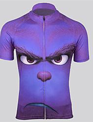 cheap -Men's Daily Spring & Summer Regular Jacket, Geometric Stand Short Sleeve Polyester Purple