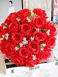 Недорогие -искусственные цветы 18 роз с букетом в руках свадебный поддельный цветок украшение шелковый цветок