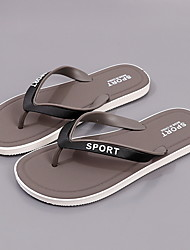 cheap -Men's PU Spring & Summer Casual Slippers & Flip-Flops Breathable Blue / Black / Gray