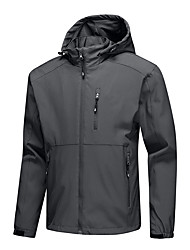 cheap -Men's Full Zip Track Jacket Running Jacket Windbreaker Winter Hooded Running Walking Jogging Waterproof Windproof Breathable Sportswear Top Long Sleeve Activewear Stretchy / Quick Dry / Quick Dry