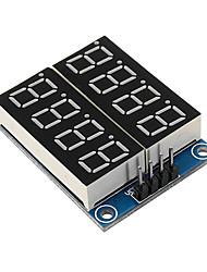 Недорогие -8-битный последовательный интерфейс, красная подсветка, цифровой дисплей, модуль дисплея 74hc164 жк-драйвер