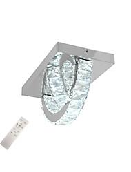 Недорогие -Современный хрустальный потолочный светильник 2 светодиодные встроенные лампы из нержавеющей стали скрытого монтажа для кровати гостиной кухня asile освещение