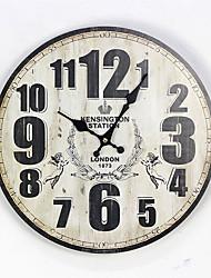 cheap -1pcs Nostalgic British Style MDF Painted Digital Pattern Wall Clock