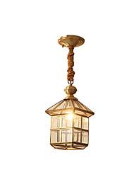 Недорогие -современный простой подвесной светильник медный латунный классический подвесной светильник для входного коридора