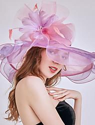 Недорогие -Старинный Мода Тюль / органза Головные уборы с Бант / Цветы / Отделка 1 шт. Свадьба / на открытом воздухе Заставка