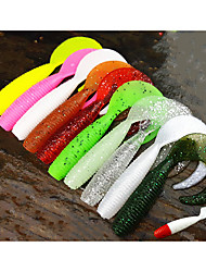 cheap -10 pcs Soft Bait Fishing Lures Soft Bait Shad Grub Sinking Bass Trout Pike Sea Fishing Fly Fishing Bait Casting Silicon / Spinning / Jigging Fishing / Freshwater Fishing / Bass Fishing / Lure Fishing