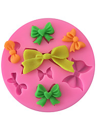 cheap -1PC Size Bow tie Mold Silicone Mold DIY patisserie