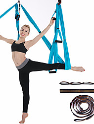 cheap -Aerial Yoga Swing Set Yoga Hammock / Sling Kit Extension Straps Sports Nylon Aerial Yoga Inversion Exercises Air Yoga Ultra Strong Antigravity Durable Anti-tear Decompression Inversion Therapy Heal
