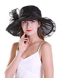 cheap -Women's Party Active Cute Mesh Lace Sun Hat-Floral Solid Colored Summer Black Light Brown White