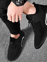 Недорогие -Муж. Весна на открытом воздухе Спортивная обувь Сетка Белый / Черный