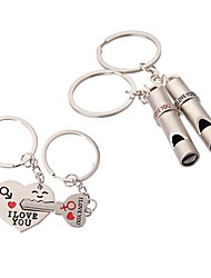 cheap -Creative / Heart Keychain Favors Metal Whistle - 4 pcs All Seasons