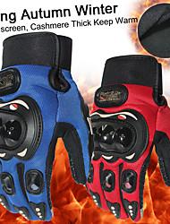 Недорогие -новый толстый согреться полный палец перчатки мотоцикла мотокроссу luvas gants guantes moto защитное снаряжение перчатки черный синий красный цвет