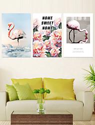 Недорогие -3 шт. Печать декоративной живописи масляной живописи дома декоративные настенные росписи на холсте 40 х 60 см х 3 животных цветочные