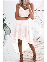 cheap -Women's Sheath Dress - Solid Color White Blushing Pink S M L XL