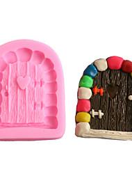 Недорогие -сделай сам сердце каменная дверь украшения торта жидкого силикона шоколад плесень 1 шт.