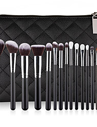 cheap -Professional Makeup Brushes 15pcs Professional Cute Full Coverage Adorable Comfy Artificial Fibre Brush Plastic for Eyeliner Brush Blush Brush Foundation Brush Makeup Brush Eyeshadow Brush
