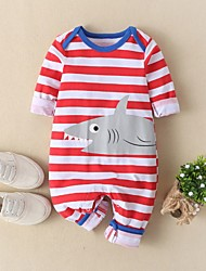 cheap -Baby Boys' Basic Striped Short Sleeves Romper Red