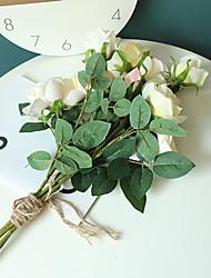 cheap -1pcs Rose Artificial Flower Green Wedding Decoration INS Wind